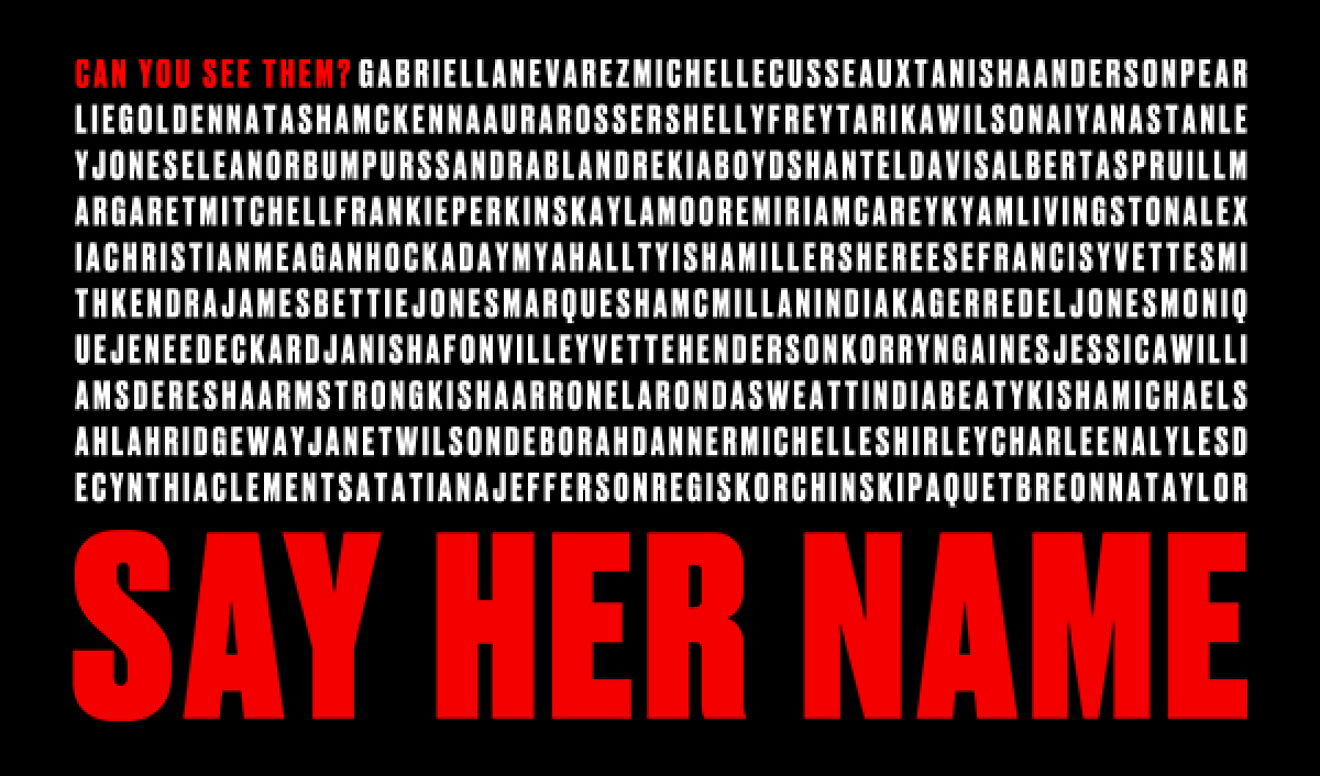 #SAYHERNAME CHIME SPECIAL